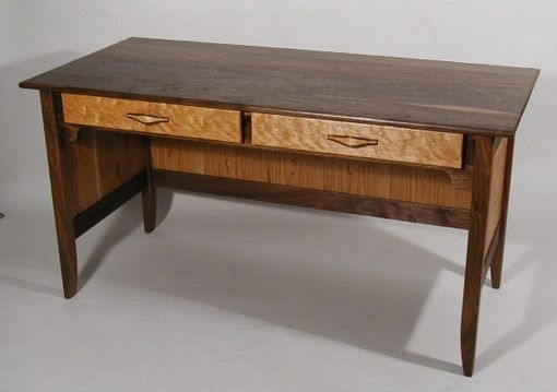 Custom Made Black Walnut And Cherry Office Desk