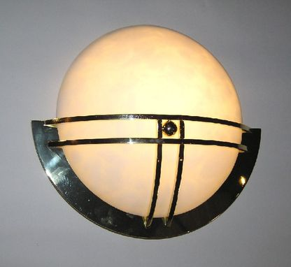 Custom Made Polished Brass Custom Wall Sconce