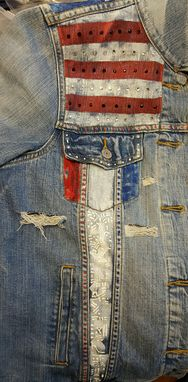 Custom Made Custom Hand Painted Levi Jean Jacket