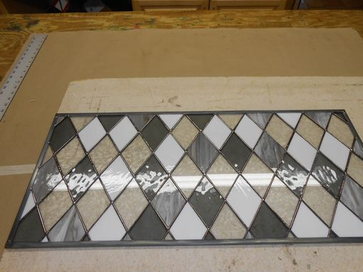 Custom Made Diamond Window In Gray, White And Clear