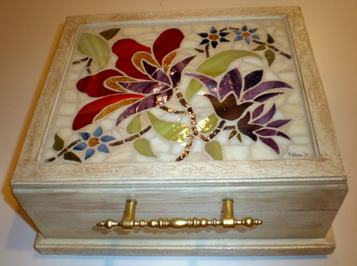 Custom Made Stained Glass Mosaic Box