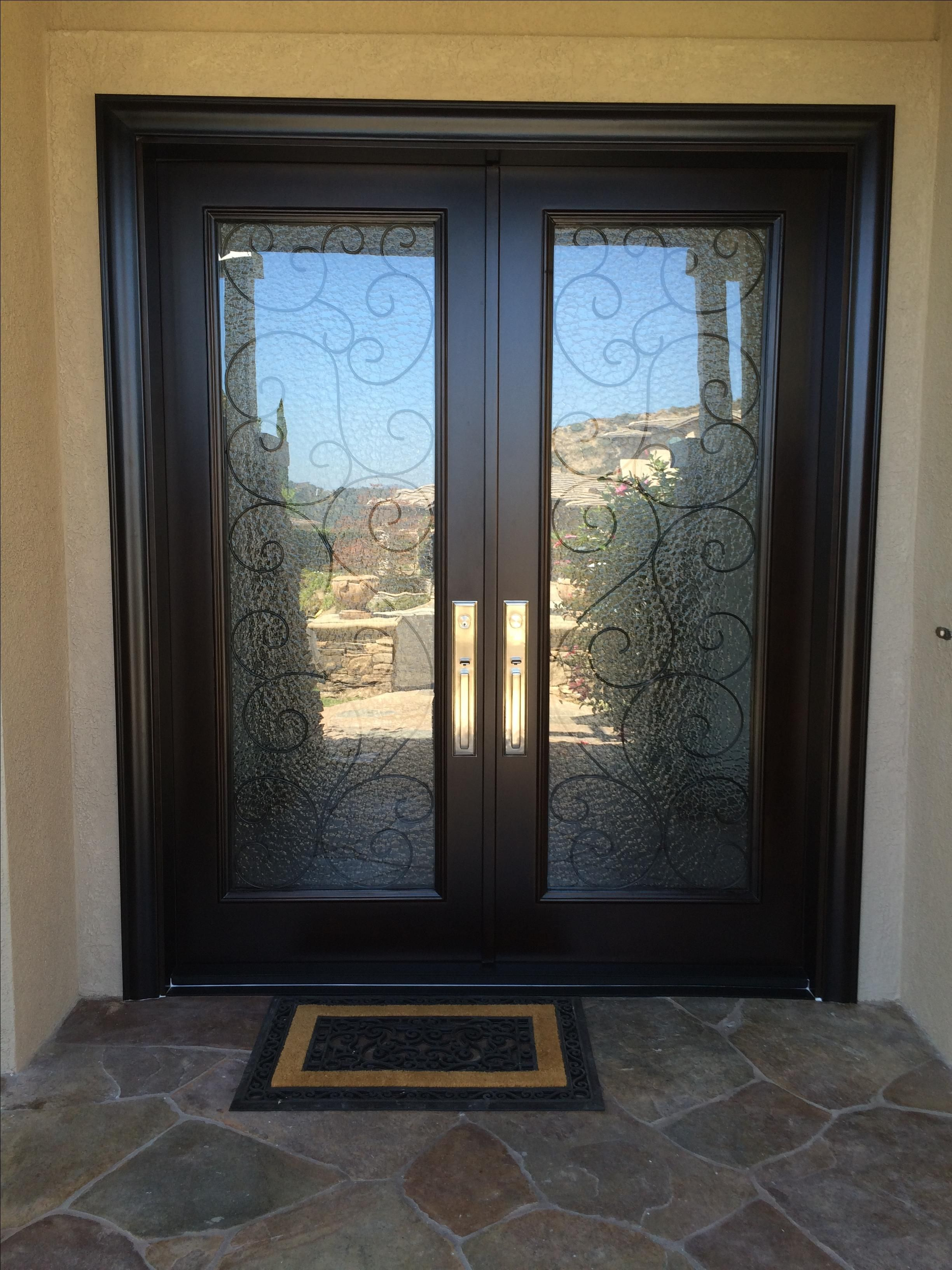 Custom Made 6 X 8 4 Rustic Mahogany Entry With Flemish Glass And