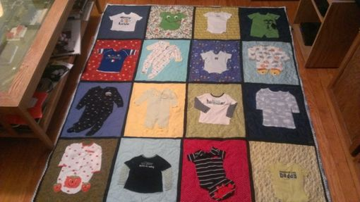 Custom Made Baby Quilt From Your Baby Cloths
