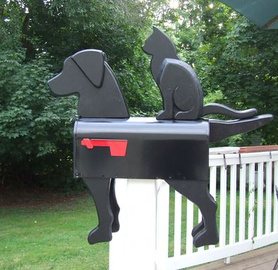 Custom Made Black Dog & Cat Mailbox