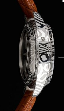 Custom Made High-End Custom Made Watch From Damascus Steel