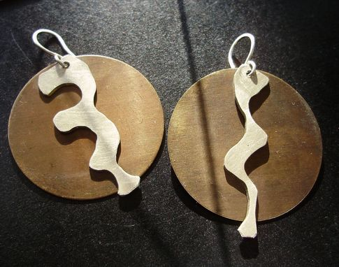 Custom Made Silver Drips Earrings