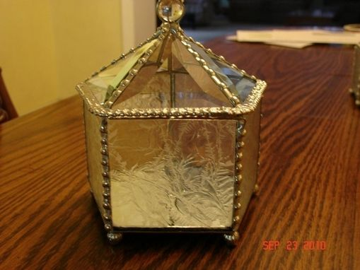 Custom Made Stained Glass Beveled Showcase Box