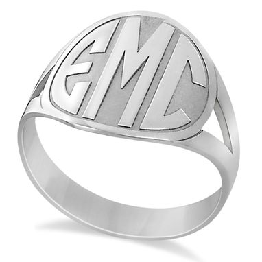 Custom Made Personalized Bold Initial Monogram Fashion Ring