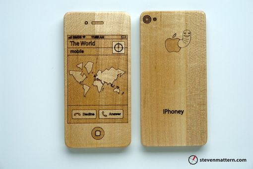 Custom Made Iphoney: Wooden Toy Smart Phone