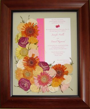Custom Made Floral Preservation ~ Bridal Bouquet With Wedding Invitation!