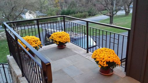 Custom Made Exterior Forged Iron Railing