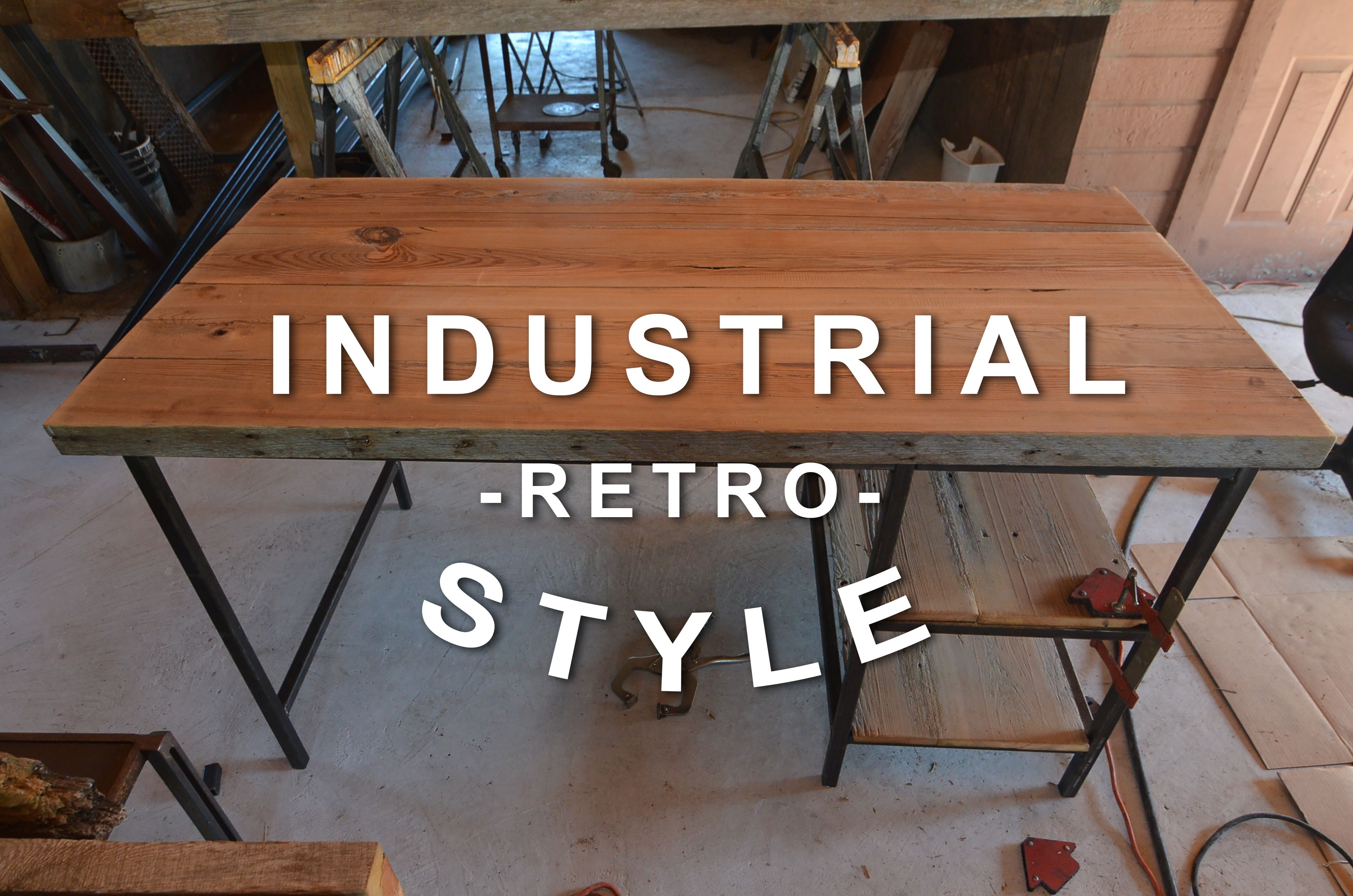 Buy a Hand Made Industrial Desk, made to order from AUSTIN RETRO