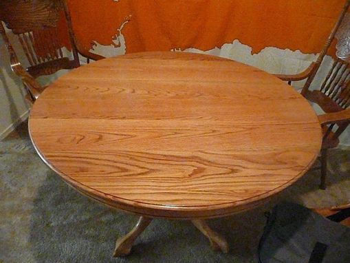 Custom Made Solid Oak Round Table