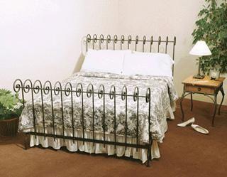 Metal Scroll Sleigh Bed