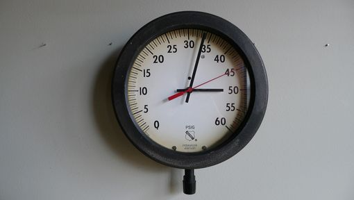 Custom Made Pressure Clock