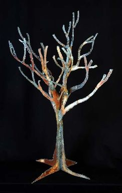 Custom Made Cut Metal Tree Sculptures
