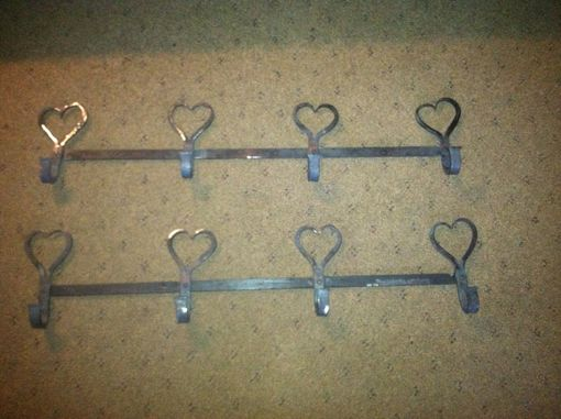 Custom Made Heart Hook Wall Mounted Coat Rack