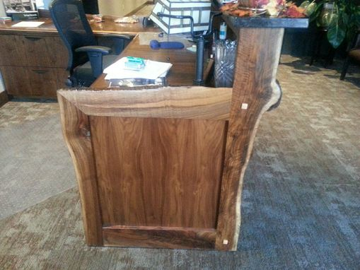 Custom Made Solid Walnut Reception Counter/Desk/Workspace