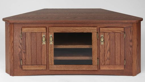 Custom Made Solid Wood Tv Stand Mission Oak Plasma Lcd Corner