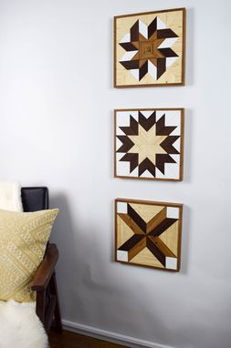 Custom Made Quilt Block Wood Wall Art Bundle