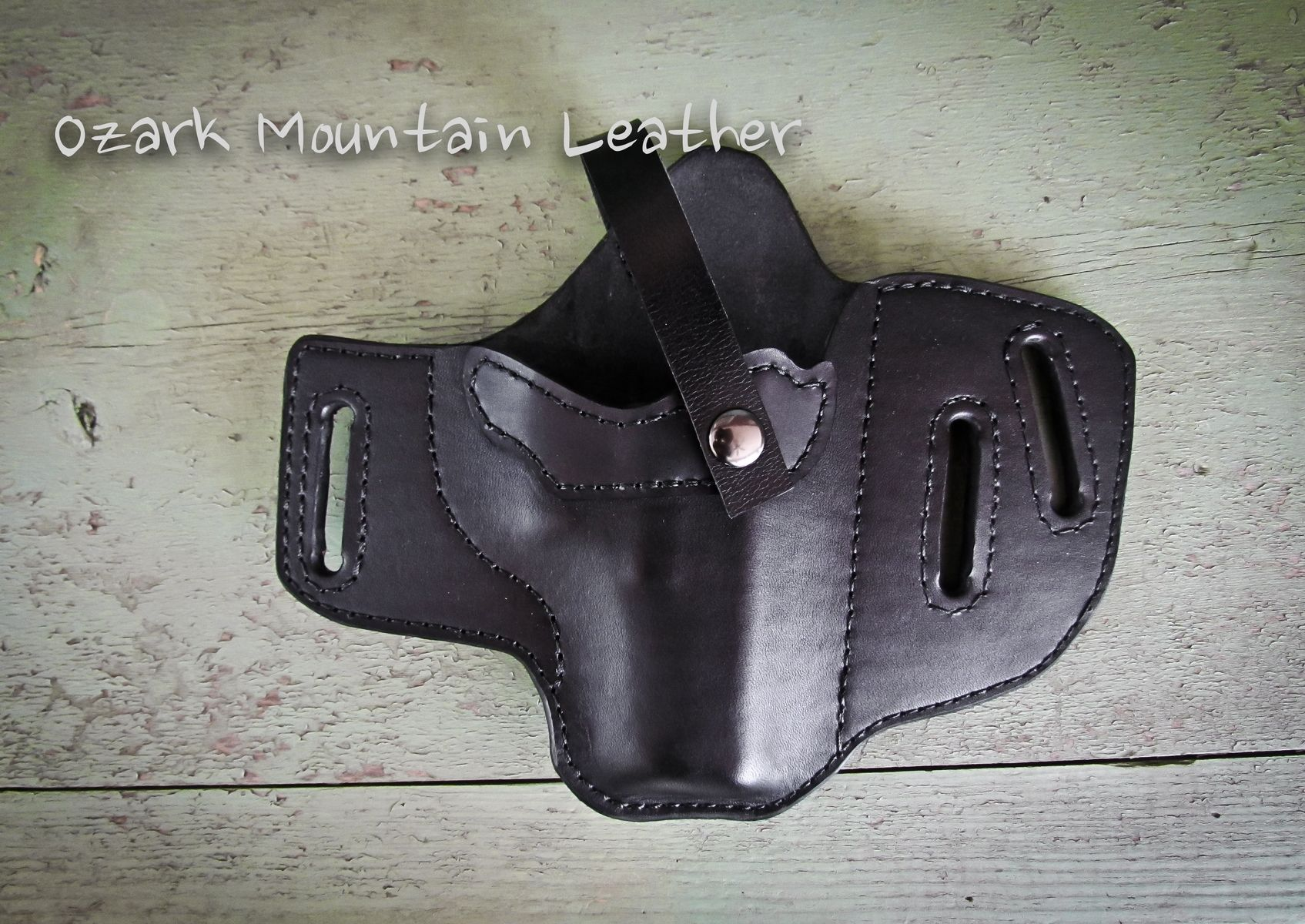 Buy a Hand Crafted Custom Leather Gun Holster Black For