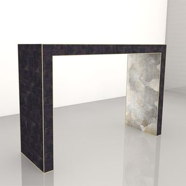 Custom Made Black And Silver/Gold Mica Console In The Style Of Jean Michel