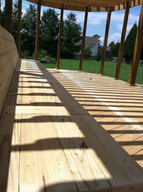 Custom Made Huge Custom Deck And Pergola