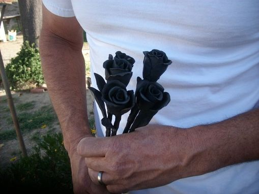 Custom Made Hand Forged Longstemmed Roses