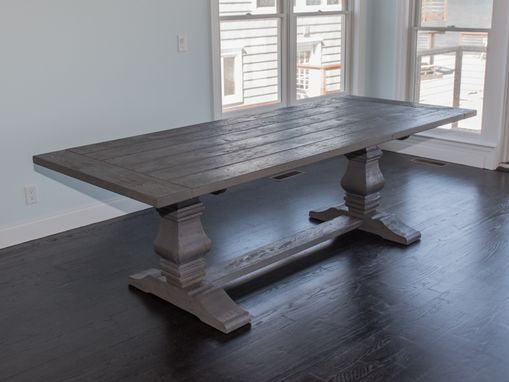 Custom Made Reclaimed Oak Farmhouse Table