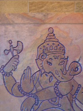 Custom Made Symbolic Hindu Art- Ganesha-  Remover Of Obstacles