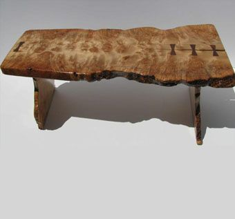Custom Made Burl Maple Live Edge Coffee Table
