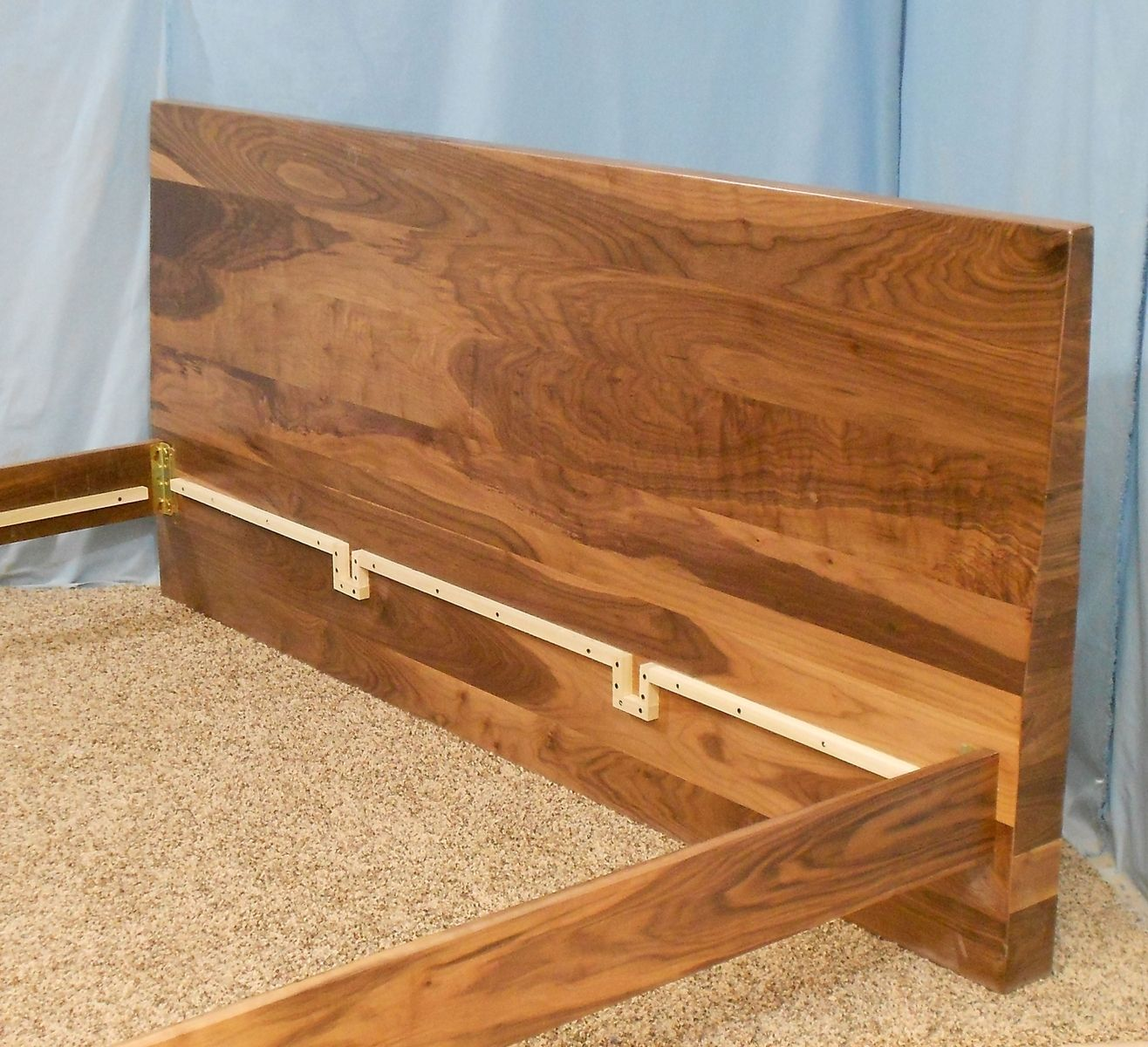 Buy A Custom Made King Size Danish Modern Bed With Slanted