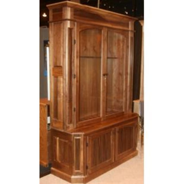 Walnut With Ebony Macassar Wood Laminate 11 Rifle Gun Cabinet - Custom Gun Cabinets, Gun Cases, Gun Racks, & Gun Storage