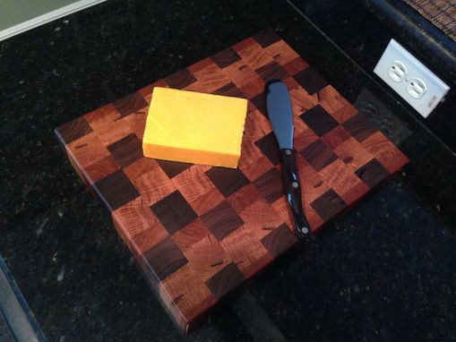 Custom Made Handmade Reclaimed Wood Butcher Block Cutting Board