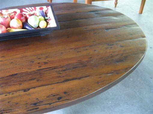 Rustic Round Kitchen Table custom rustic round kitchen tableecustomfinishes | reclaimed