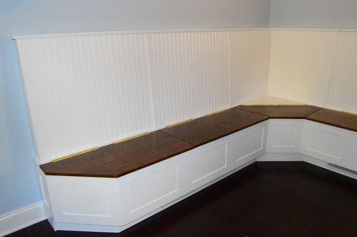 Custom Made Maple Kitchen / Dining Benches With Storage And Back