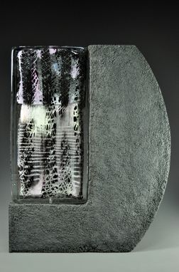 "Custom Made ""Ebb""  Baja Series, Paintings In Glass And Concrete Grouping"