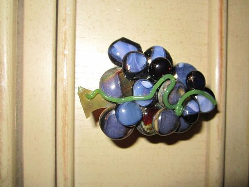 Handmade French Kitchen Cabinet Knob Fused Glass Grapes by Magical ...