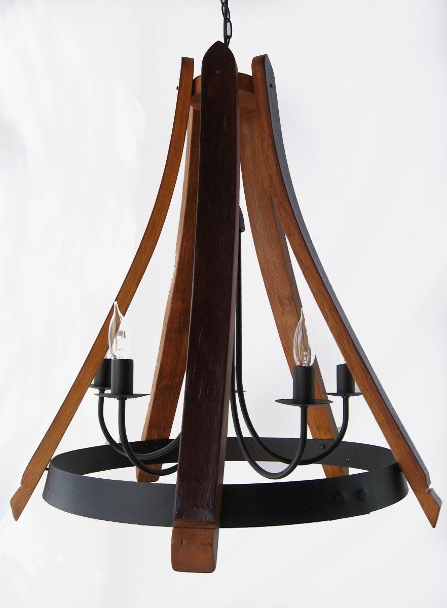 Hand Made Cervantes Wine Barrel Chandelier Recycled Oak Staves And Hoop Pendant Ceiling Light By Stil Novo Design Custommade Com