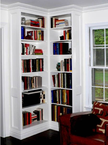 Custom Made Built-In Corner Bookcases By Stuart Home