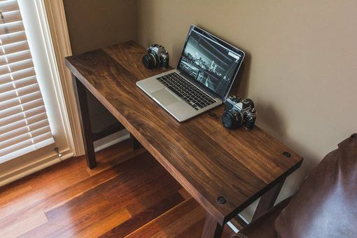 Custom Made Modern Walnut Computer Desk