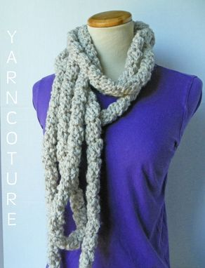 Custom Made The Infinity Loop Scarf / High Fashion Chain Cowl / Fall - Winter Fashion
