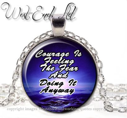 Custom Made Quote Whimsical Necklace, Inspirational Quote Jewelry Pendant Necklace