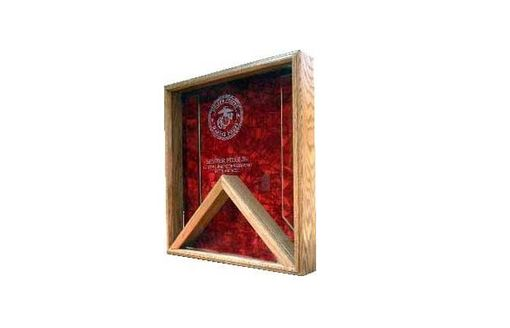 Custom Made Coast Guard Flag Display Case - Shadow Box