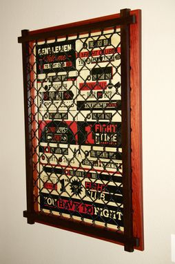 Custom Made Cage Fight Poster Frame / Mma