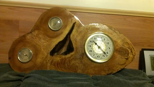 Custom Made Live Edge Wood Clock