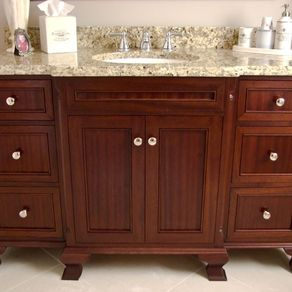 Custom Bathroom Vanities CustomMadecom - How to stain a bathroom vanity