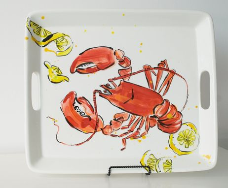 Custom Made Lobster Bake Serving Tray - Beach House - Summer - Clam Bake - Hamptons - Long Island