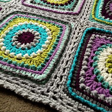 Custom Made Babylove Brand Textured Circles Blanket