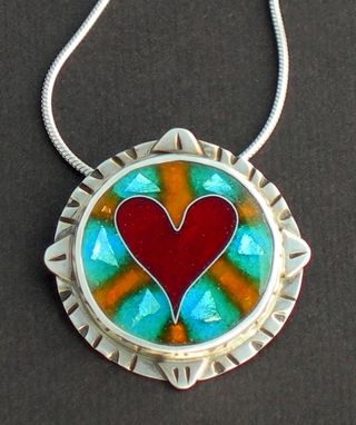 Custom Made Heart Pendant Necklace- Hearts Aura